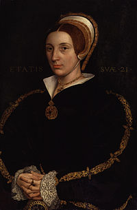 Unknown woman, formerly known as Catherine Howard by Hans Holbein the Younger.jpg