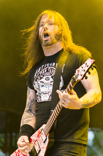 Gary Holt (musician) - Gary Holt with Slayer in 2012