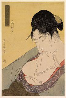 <i>Hokkoku Goshiki-zumi</i> Series of five ukiyo-e prints designed by the Japanese artist Utamaro