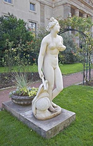 Rose garden of the Jardin des Plantes in Paris