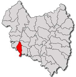 Location of Vâlcele, Covasna