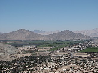Atacama Region - Irrigated fields in the outskirts Copiapó.