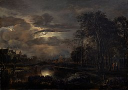 Van der Neer - Moonlit Landscape with Bridge.jpg
