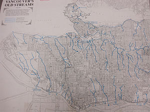 Daylighting (streams) - The historic stream network in Vancouver, B.C.