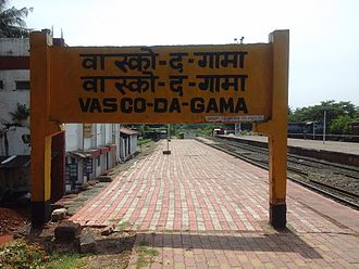 Vasco da Gama railway station - Image: Vasco Railway Board