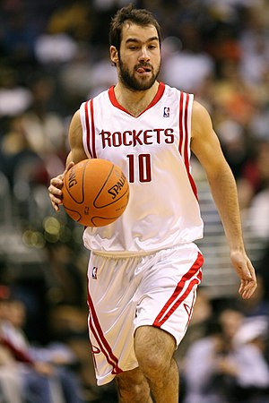 Vassilis Spanoulis - Spanoulis, during his season with the Houston Rockets.