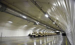Marine Corps Prepositioning Program-Norway - Vehicles inside one of the storage caves in 2015