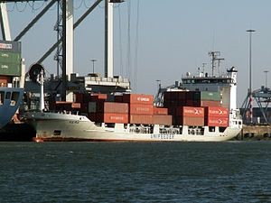 Vera loading and unloading in the Amazone harbour Port of Rotterdam 25-Feb-2006.jpg