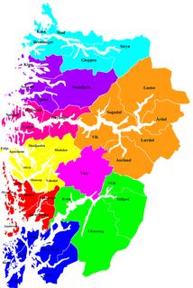 Nordhordland District in Vestland, Norway