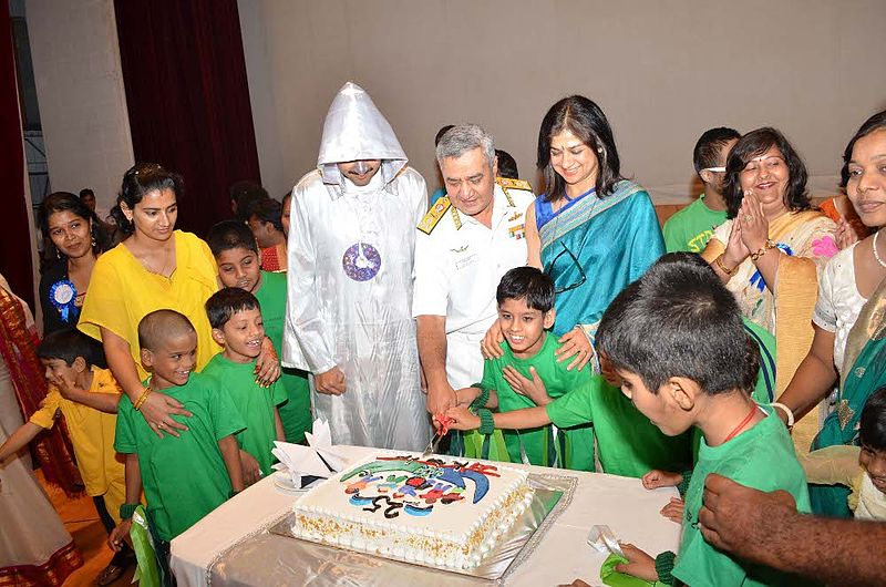 File:Vice Admiral Satish Soni cutting a cake at the 25th ...