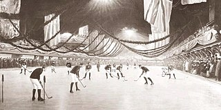 First indoor ice hockey game 1875 ice hockey game in Victoria Skating Rink in Montreal