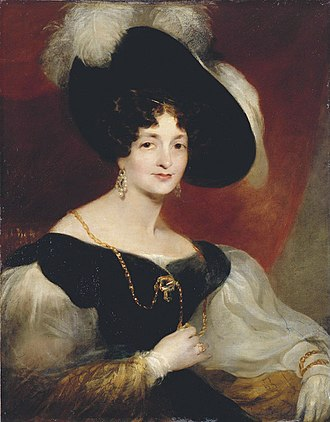 Princess Victoria of Saxe-Coburg-Saalfeld - Portrait by Richard Rothwell