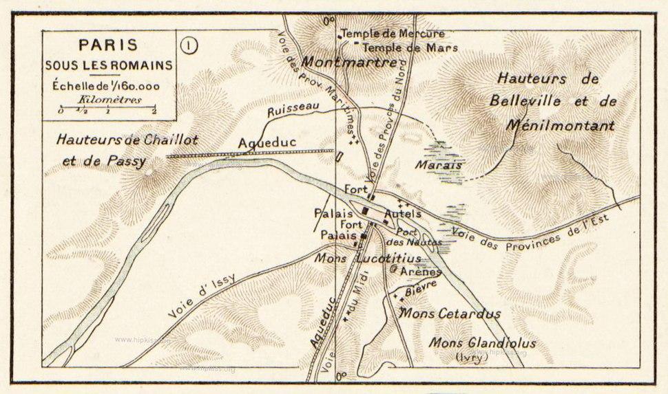 Vidal Lablache - Atlas General Histoire et Geographie, Paris sous les romains - Hipkiss