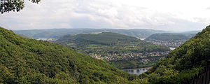 Boppard - View from the Vierseenblick.