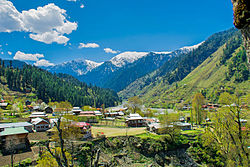 Sharda town in Neelum Valley, Azad Kashmir