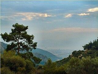 Yamanlar mountain in İzmir, Turkey