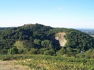 Midsummer Hill mountain in United Kingdom