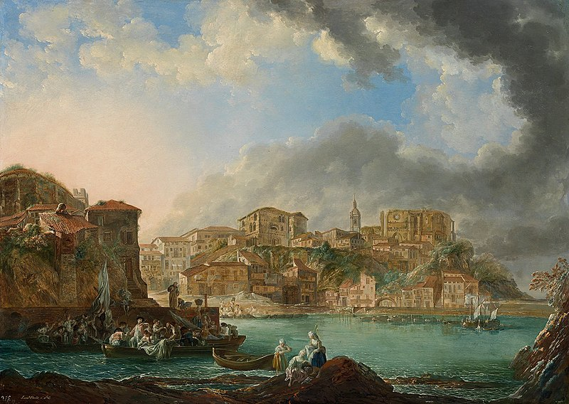 Archivo:View of Bermeo by Luis Paret y Alcázar, 1783.jpg
