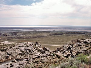 Karagiye - Image: View of Karagiye Depression