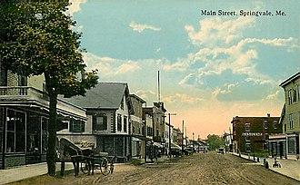 Springvale, Maine - Image: View of Main Street, Springvale, ME