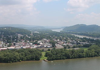Northumberland, Pennsylvania - View of Northumberland from the Shikellamy State Park overlook