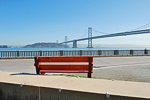 Embarcadero (San Francisco) - View of Yerba Buena Island and Bay Bridge