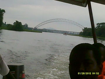 View of the Adomi Bridge, from the Volta Lake.JPG