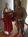 Vikings costumes woman man Arkeologisk museum Stavanger, Norway 2015-05-27.jpg