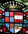Villeréal - Église Notre-Dame - Vitrail gauche du chœur - Blason composé des alliances de la famille Montagu de Mondenard.jpg