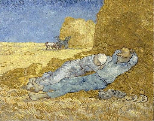 Vincent van Gogh - The siesta (after Millet) - Google Art Project