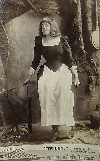 Trilby (play) - Virginia Harned as Trilby in the original American production (1895)