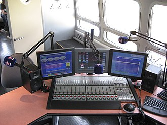 Digital mixing console - Klotz Digital's Vadis DC II mixer in use at a Virgin Radio outside broadcast