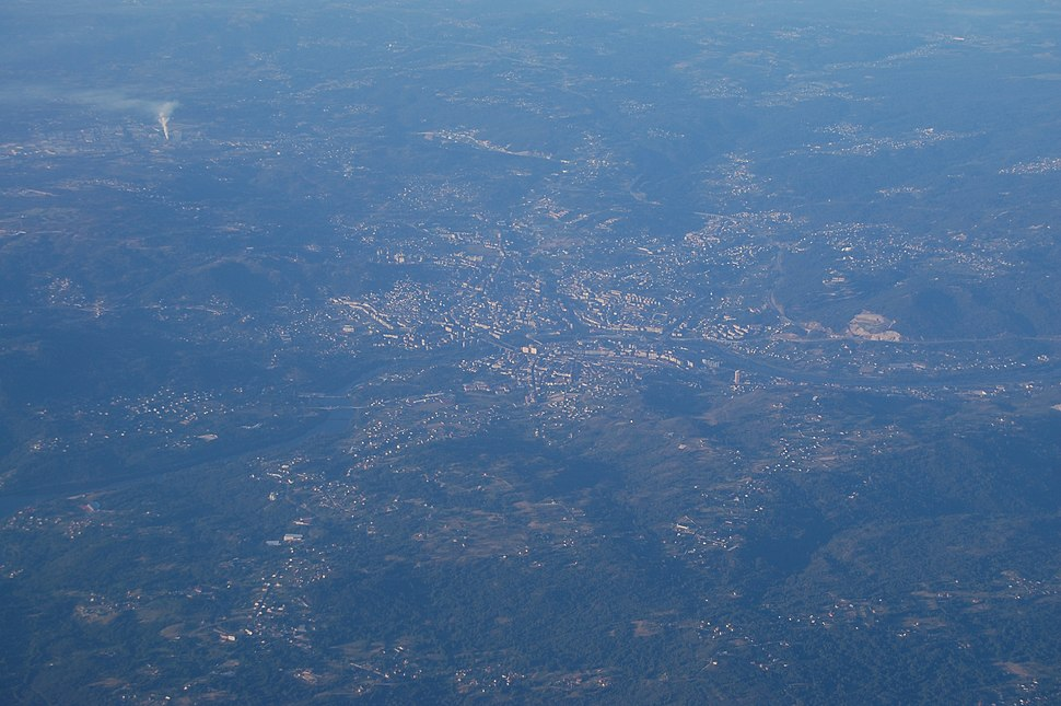 Vista aérea de Ourense 1