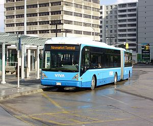 Viva Blue - Viva Blue bus 5203 at Finch Bus Terminal, bound for Newmarket.