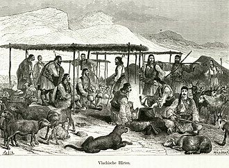 Vlachs - Vlach herdsmen in Greece (Amand Schweiger from Lerchenfeld, 1887)