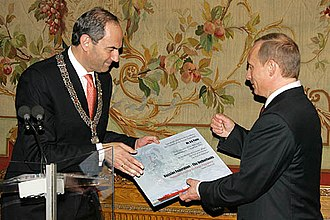 Job Cohen - Job Cohen and President of Russia Vladimir Putin in 2005