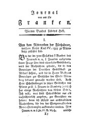 Von dem Ritterorden der Fürspänger, welchen Kaiser Karl IV. 1355 zu Nürnberg gestiftet hat, S. 665-708