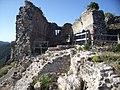 Vue sur les vestiges de la chapelle présumée du château de Termes.jpg