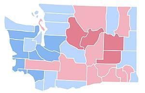 United States presidential election in Washington (state), 1996 - Image: WA1996