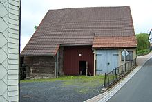 This barn in Thuringia Germany has two outshots forming the recess to the middle barn doors. & Barn - Wikipedia