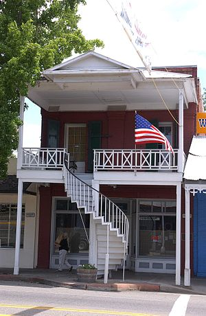 Weaverville, California - One of many spiral staircases in Weaverville