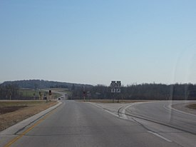 Wisconsin Highway 32 meets Wisconsin Highway 57 in Millhome
