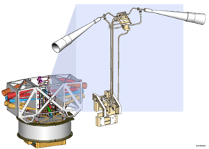 Illustration of the Wilkinson Microwave Anisotropy Probe spacecraft receivers