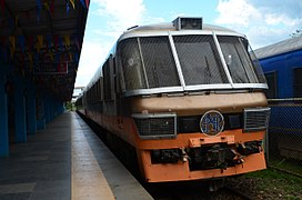 The train in Naga that is heading for Ligao, Albay that day.