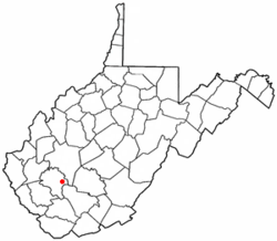 Location of Sylvester, West Virginia