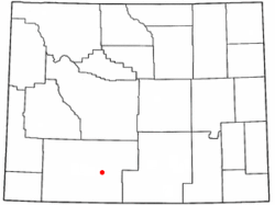 Location of Table Rock, Wyoming