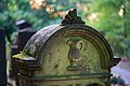 Waibstadt - Jüdischer Friedhof - mittlerer Teil - Symbol Levitenkanne (1).jpg