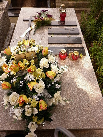 Waldemar Baszanowski - Waldemar Baszanowski tomb in Wałbrzyska street Cemetery, Służew, Warsaw
