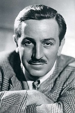 Photo de Walt disney prise en 1946. Photo en noir et blanc.