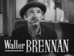 Schauspieler Walter Brennan